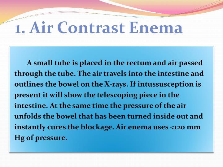 1. Air Contrast Enema