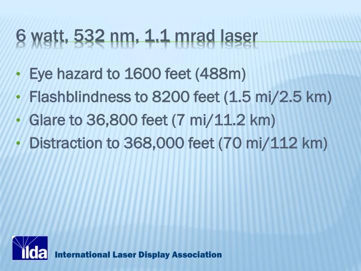 6 watt, 532 nm, 1.1