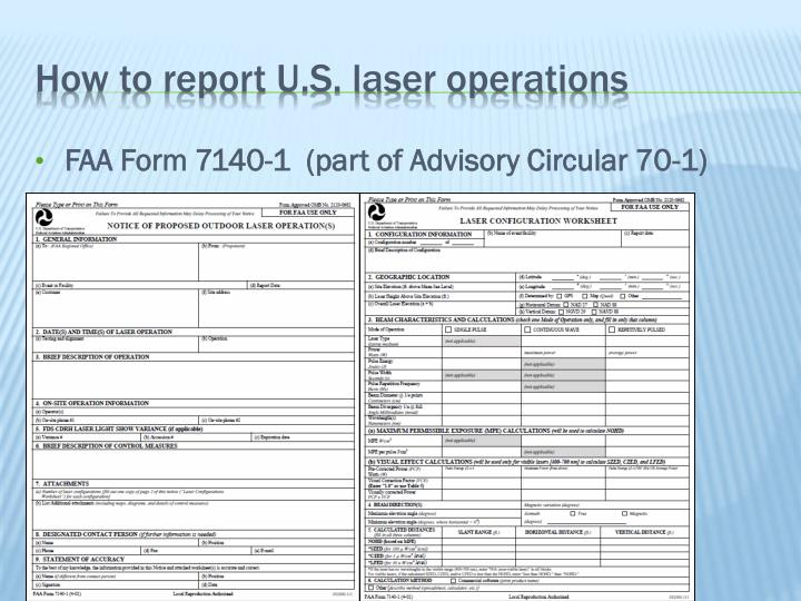 How to report U.S. laser operations