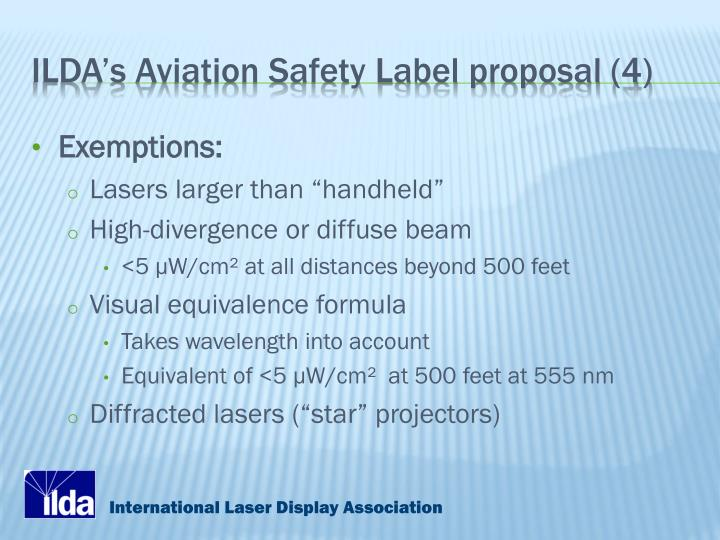ILDA's Aviation Safety Label proposal (4)