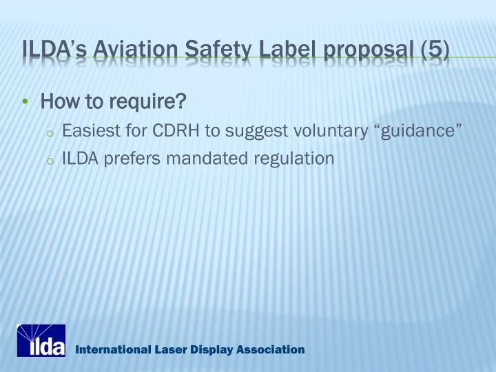 ILDA's Aviation Safety Label proposal (5)