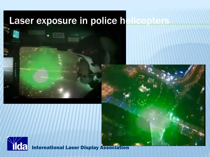 Laser exposure in police helicopters