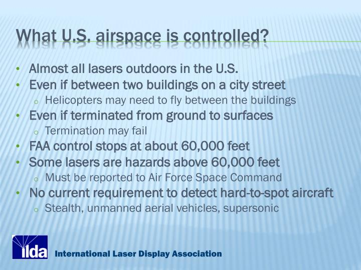What U.S. airspace is controlled?