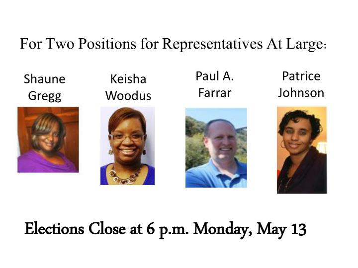 For Two Positions for Representatives At Large: