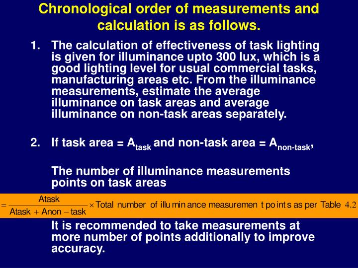 Chronological order of measurements and calculation is as follows.