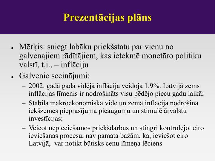 Prezentācijas plāns