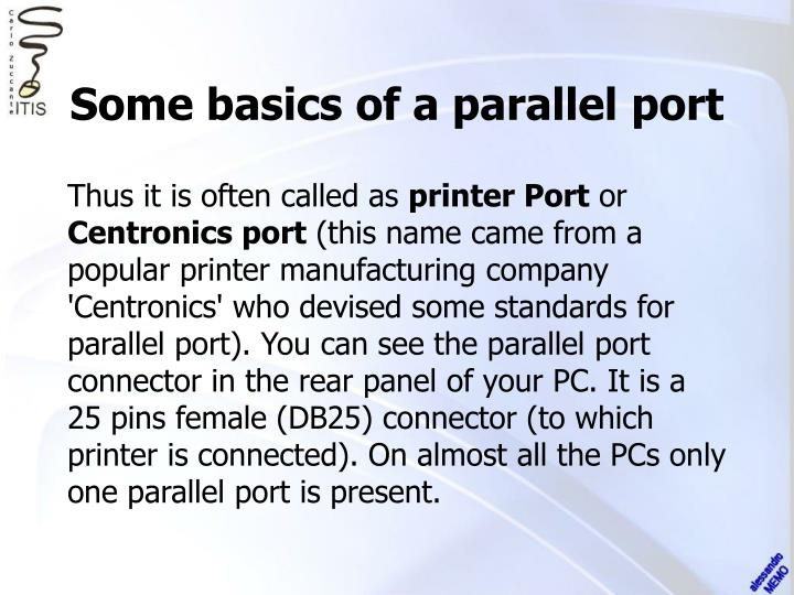 Some basics of a parallel port1