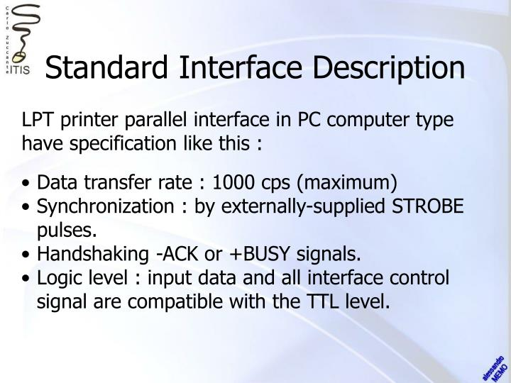 Standard Interface Description