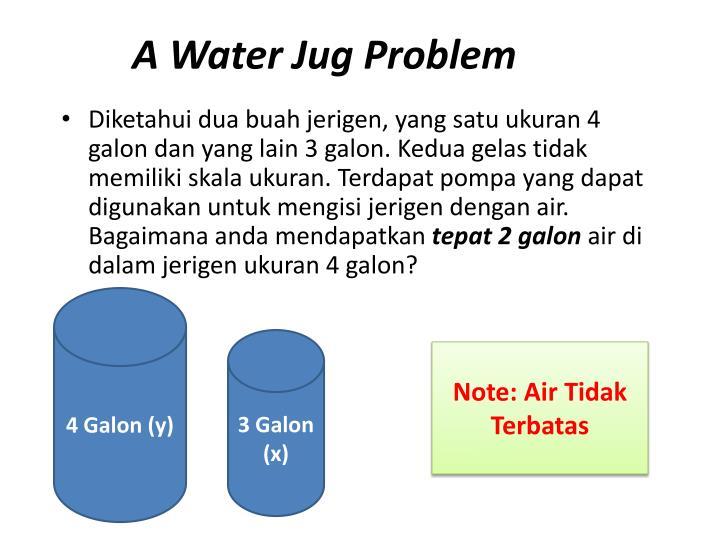 A Water Jug Problem