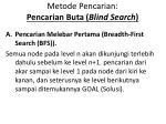 metode pencarian pencarian buta blind search