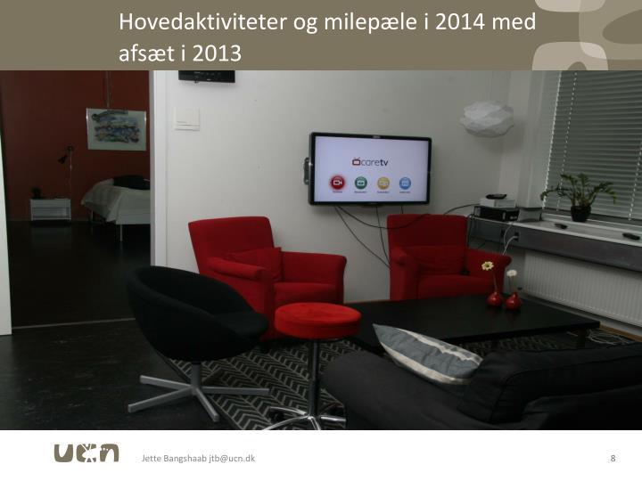 Hovedaktiviteter og milepæle i 2014 med afsæt i 2013