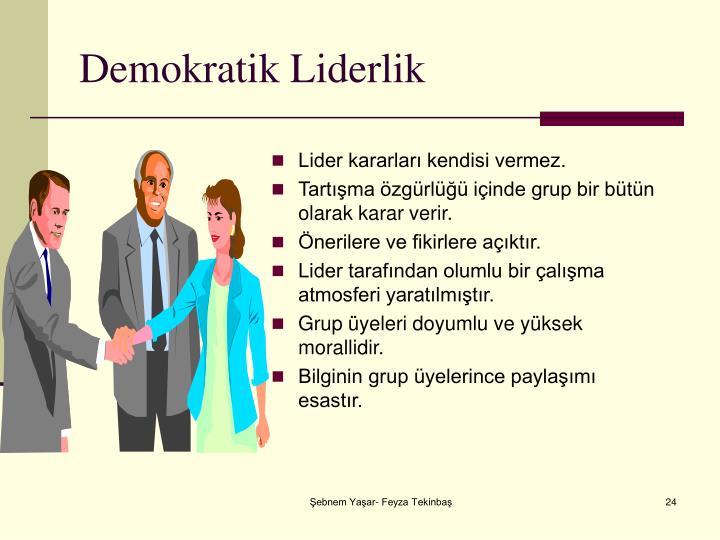 Demokratik Liderlik