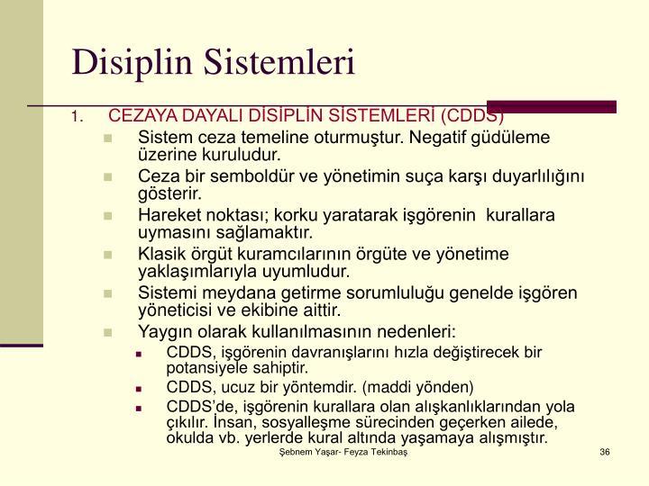 Disiplin Sistemleri