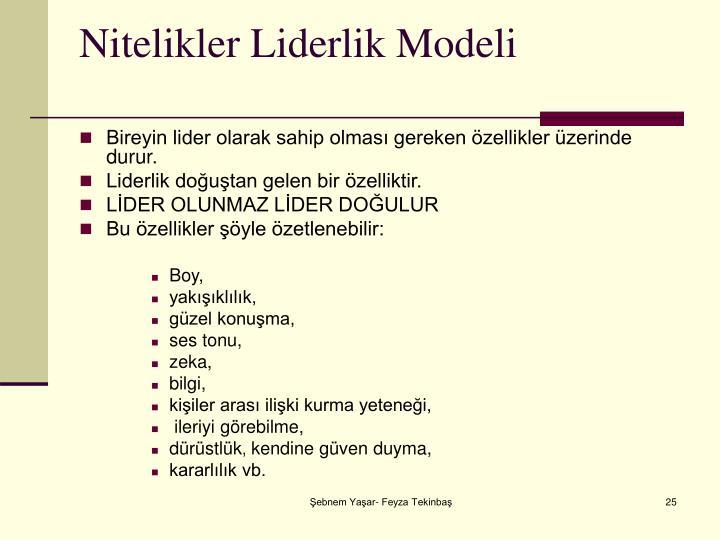 Nitelikler Liderlik Modeli
