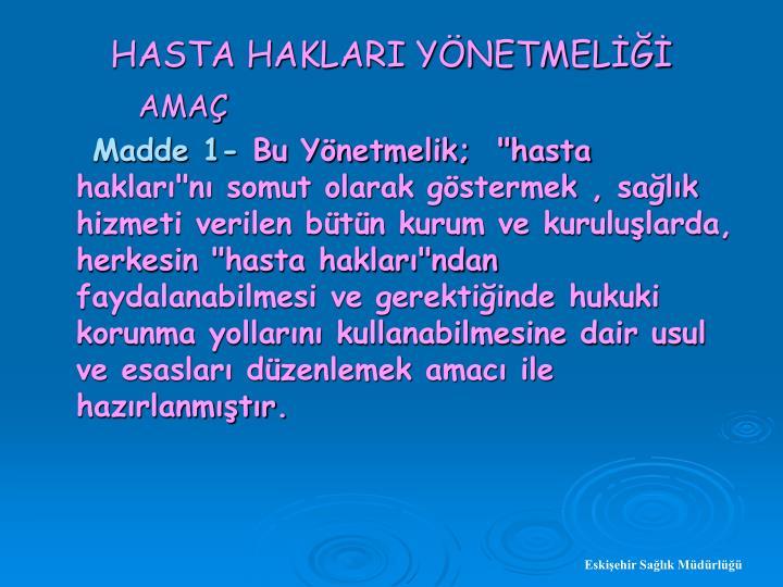 HASTA HAKLARI YNETMEL