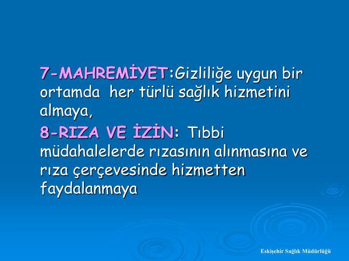 7-MAHREMYET