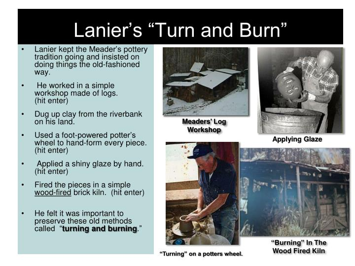 "Lanier's ""Turn and Burn"""