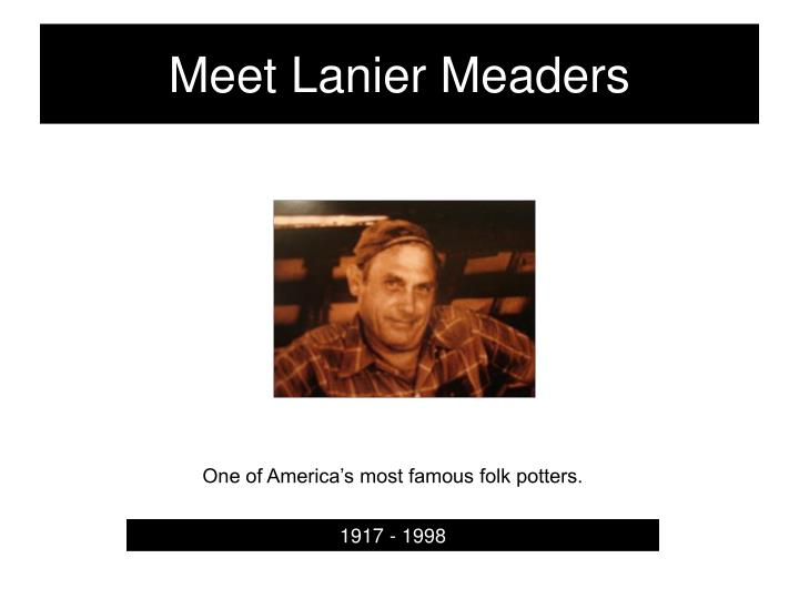 Meet lanier meaders