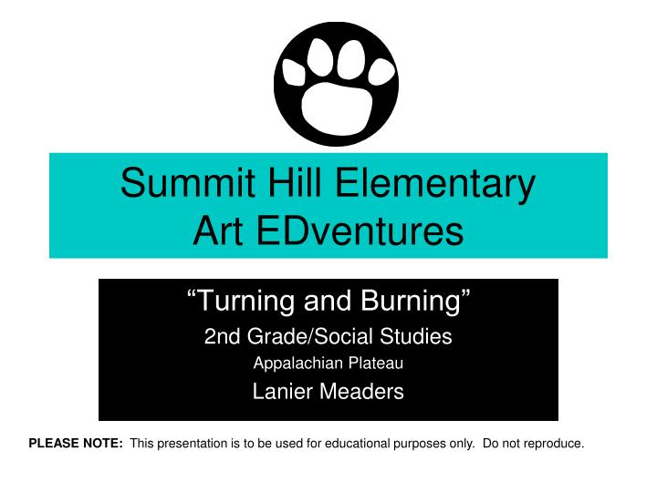 Summit hill elementary art edventures