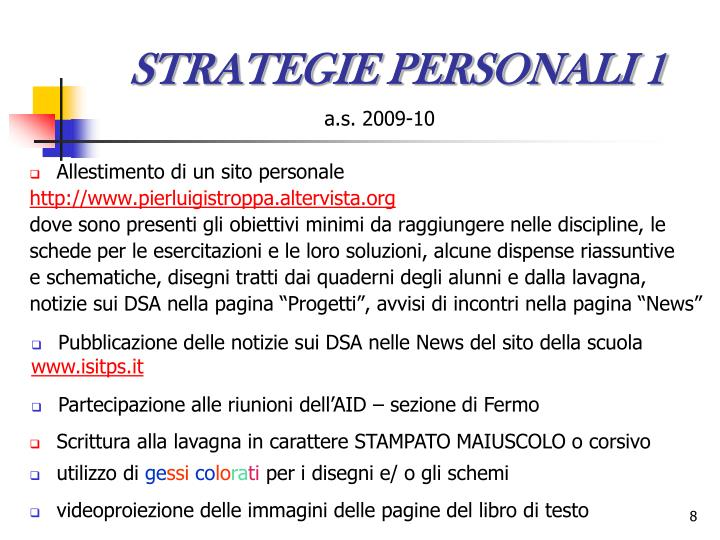 STRATEGIE PERSONALI 1