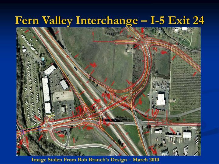 Fern Valley Interchange – I-5 Exit 24
