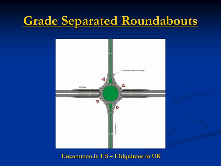 Grade Separated Roundabouts
