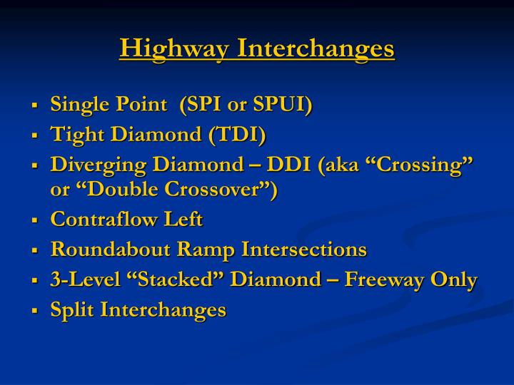 Highway Interchanges