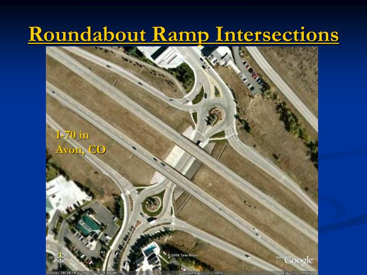 Roundabout Ramp Intersections