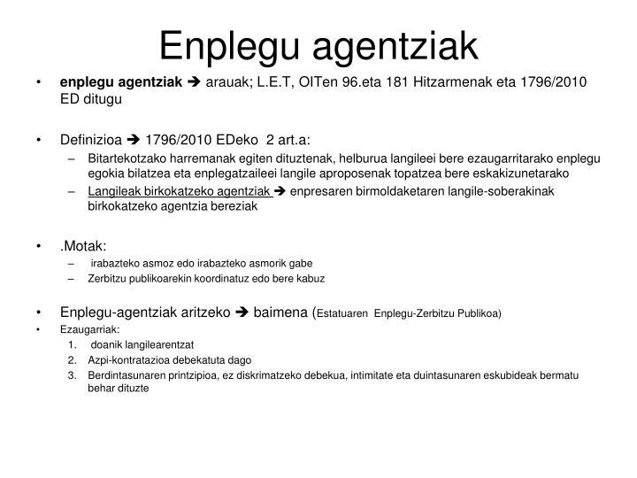 Enplegu agentziak
