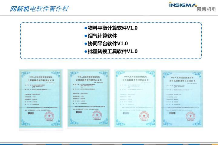 网新机电软件著作权