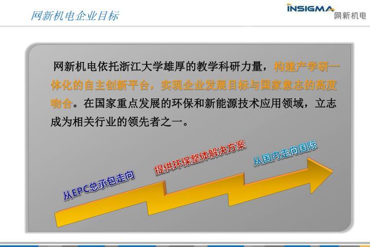 网新机电企业目标