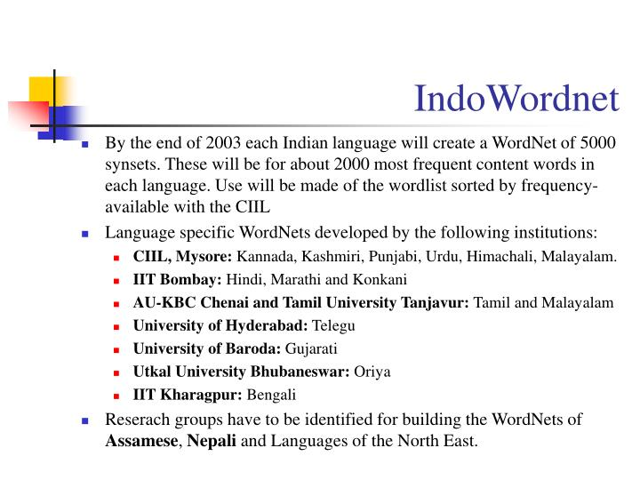 IndoWordnet
