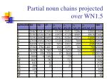 partial noun chains projected over wn1 5