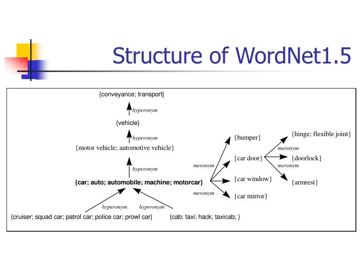 Structure of WordNet1.5