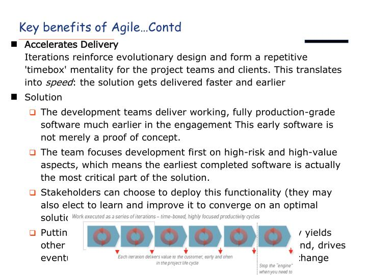 Key benefits of Agile…Contd
