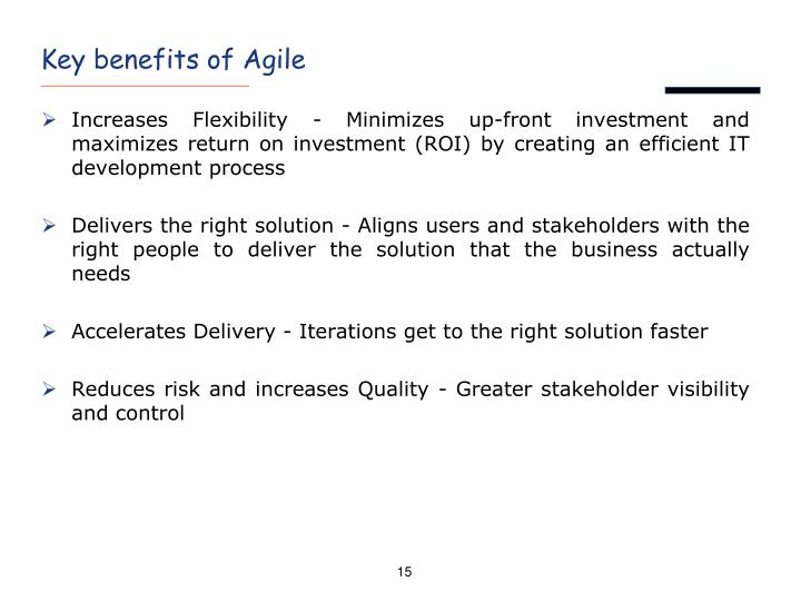 Key benefits of Agile
