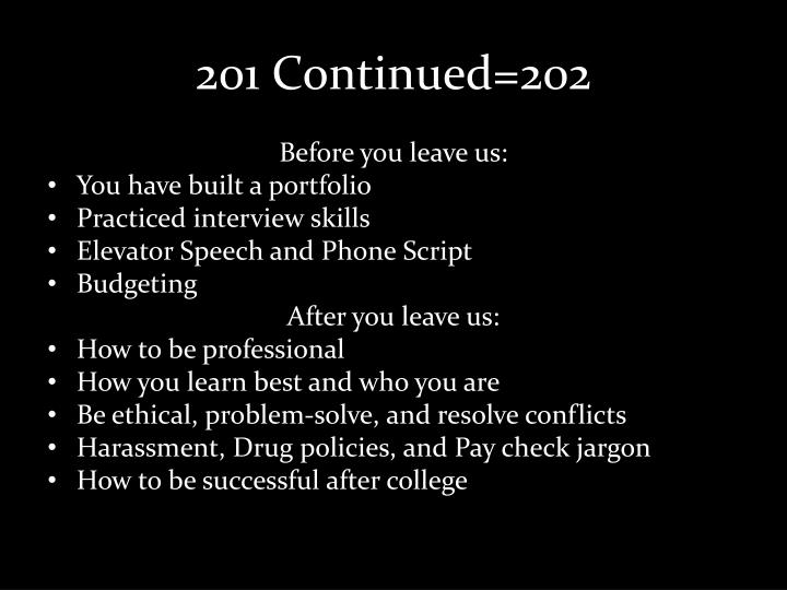201 Continued=202