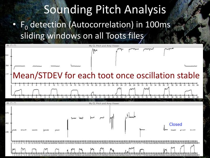 Sounding Pitch Analysis