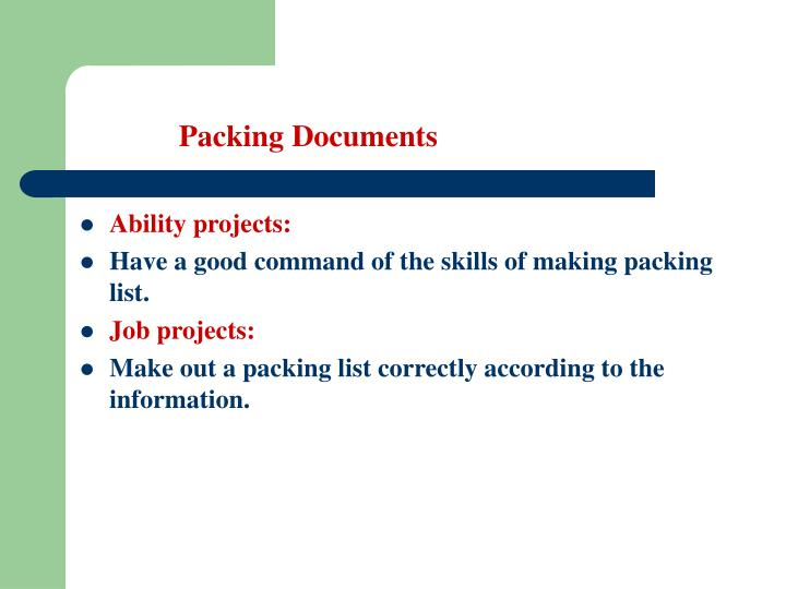 Packing documents1