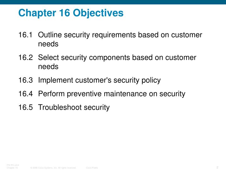 Chapter 16 Objectives