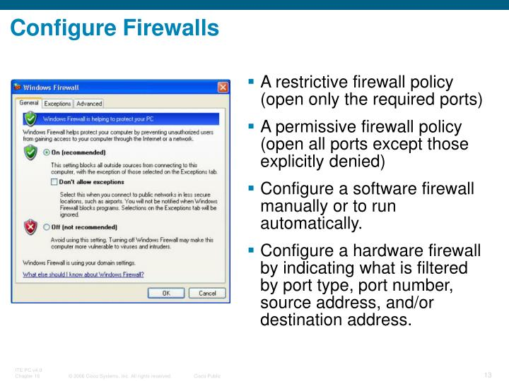 Configure Firewalls