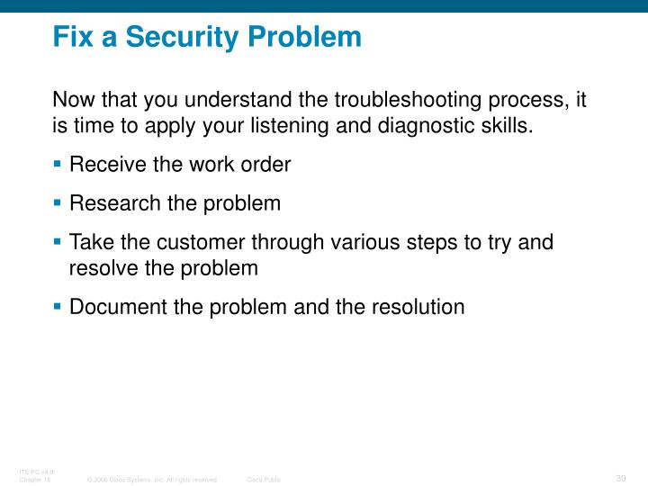 Fix a Security Problem