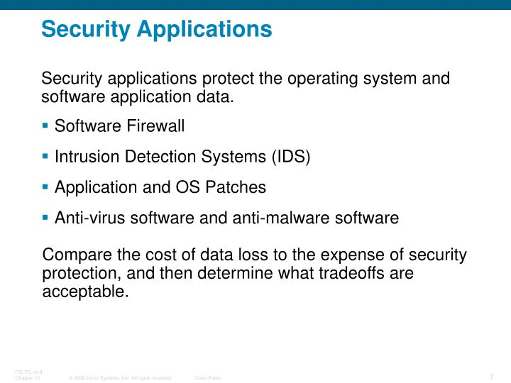Security Applications