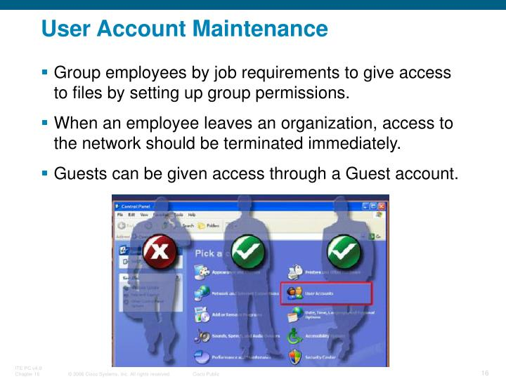 User Account Maintenance