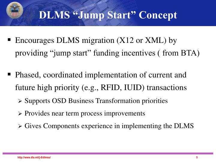 """DLMS """"Jump Start"""" Concept"""