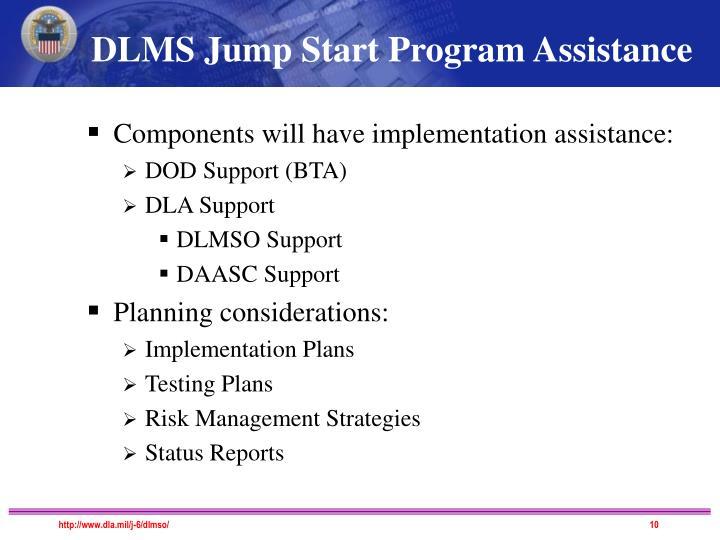 DLMS Jump Start Program Assistance