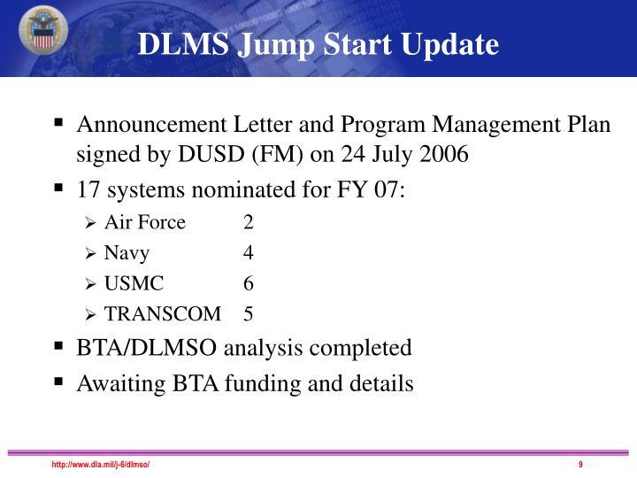 DLMS Jump Start Update