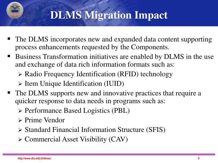 DLMS Migration Impact