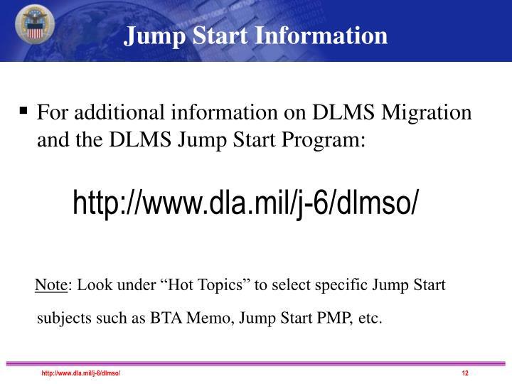 Jump Start Information