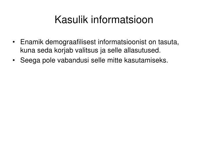 Kasulik informatsioon